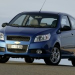 Aveo Blue Front Low Angle Wallpaper