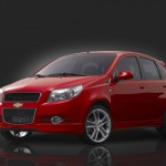 Aveo Red Front And Side Wallpaper