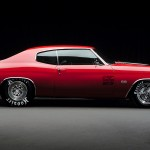 Chevelle Ss Red Side View Wallpaper