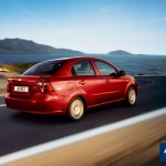 Chevrloet Aveo Red Rear Angle Wallpaper