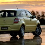 Chevrolet Agile Yellow Rear Angle Wallpaper