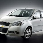 Chevrolet Aveo 2008 White Front Angle Wallpaper