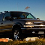 Chevrolet Blazer Black Front Angle Wallpaper