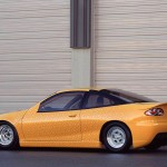 Chevrolet Cavalier Yellow Modified Side And Rear Wallpaper
