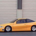 Chevrolet Cavalier Yellow Modified Side View Wallpaper