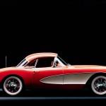 Chevrolet Corvette C1 1953 Red White Stripe Wallpaper