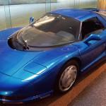 Chevrolet Corvette Concept 1990 Blue Wallpaper