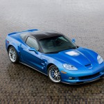 Chevrolet Corvette Zr1 Blue High Angle Wallpaper