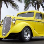 Chevrolet Coupe 1934 Yellow Wallpaper