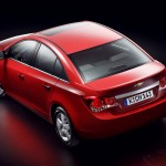 Chevrolet Cruze Red High Angle Rear Wallpaper