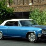 Chevrolet Impala Super Sport 1966 Blue Wallpaper