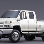 Chevrolet Kodiak C4500 White Front Side Wallpaper