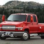 Chevrolet Kodiak Red Front Wallpaper