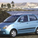 Chevrolet Matiz Blue Side Wallpaper