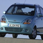 Chevrolet Matiz Bule Front View Wallpaper