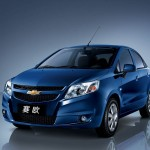 Chevrolet Sail Blue Front Angle Wallpaper