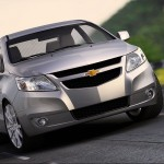 Chevrolet Sail Silver Front Wallpaper