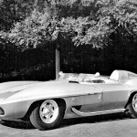 Chevrolet Stingray 1959 Monochrome Wallpaper