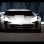 Chevrolet Stingray 2009 White Front Wallpaper