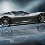 Chevrolet Stingray Right Side With Reflection Wallpaper