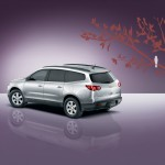 Chevrolet Traverse 2009 Rear Side Angle Wallpaper