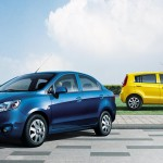 Sail Blue Sedan Yellow Hatchback Wallpaper