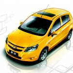 Sail Yellow Hatchback High Angle Wallpaper