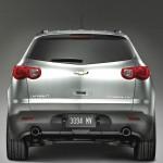 Traverse Silver Rear View Wallpaper